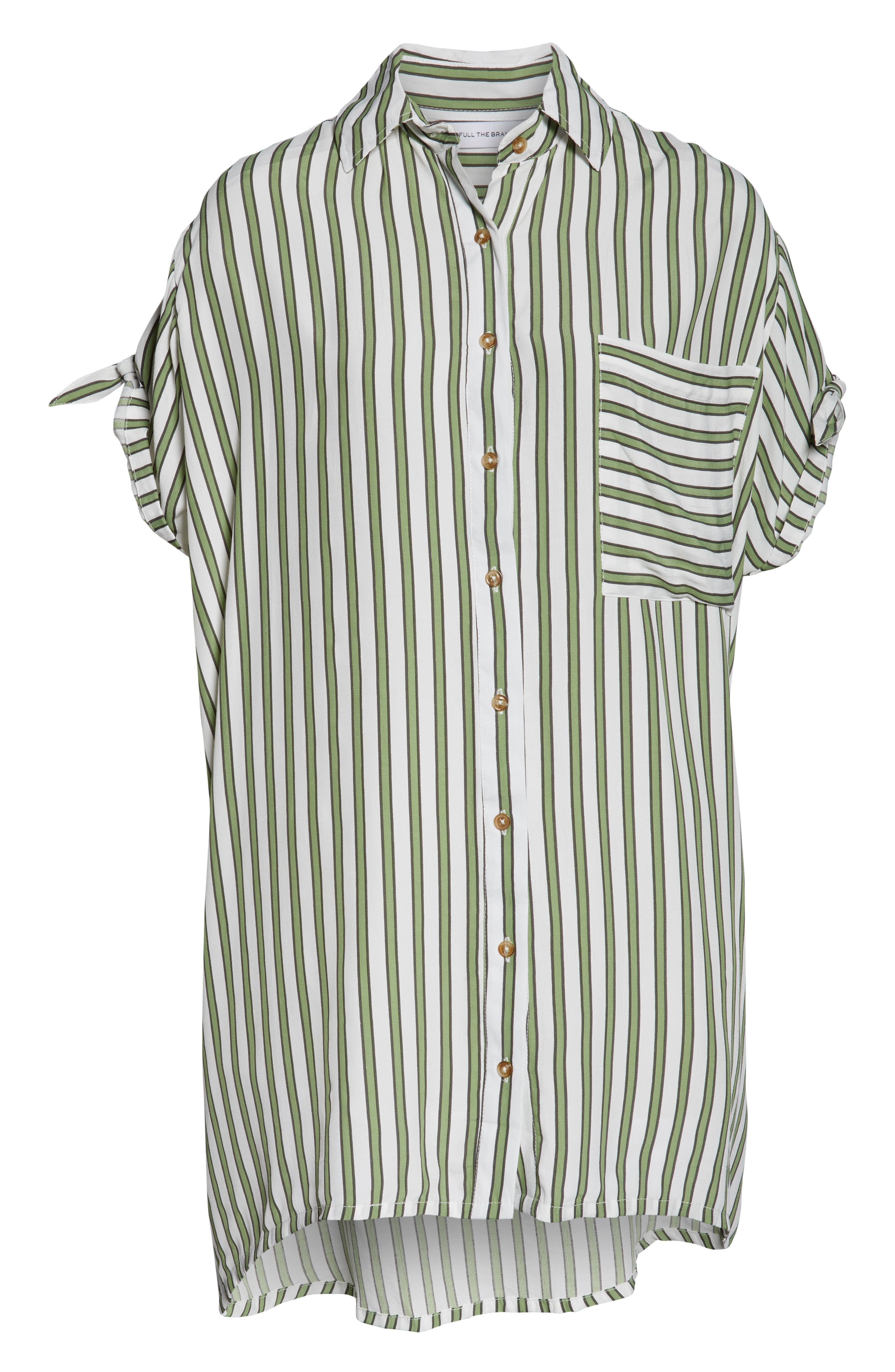 ,                             Porte Stripe Shirtdress,                             Alternate thumbnail 5, color,                             ALMERIA STRIPE PRINT
