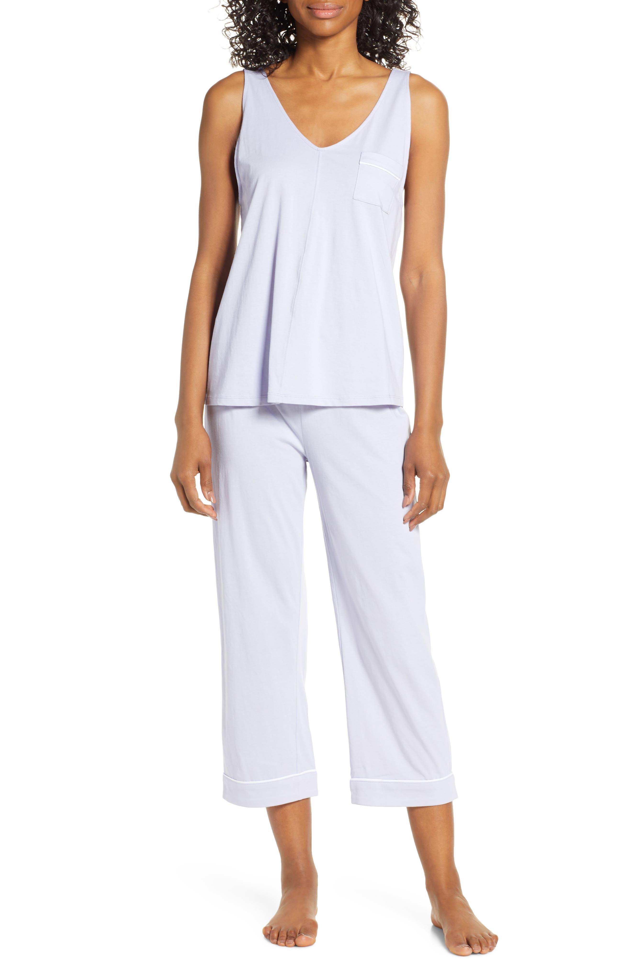 Nordstrom Lingerie Breathe Capri Pajamas, Purple
