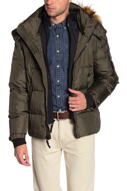 Image of S13 Matte Faux Fur Hood Trim Jacket