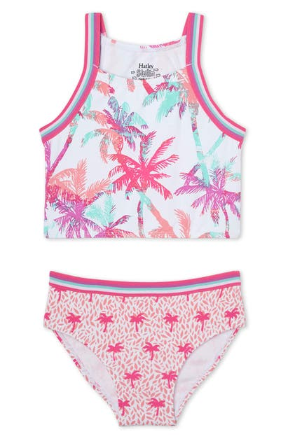Hatley KIDS' OMBRE PALM TREE TWO-PIECE SWIMSUIT