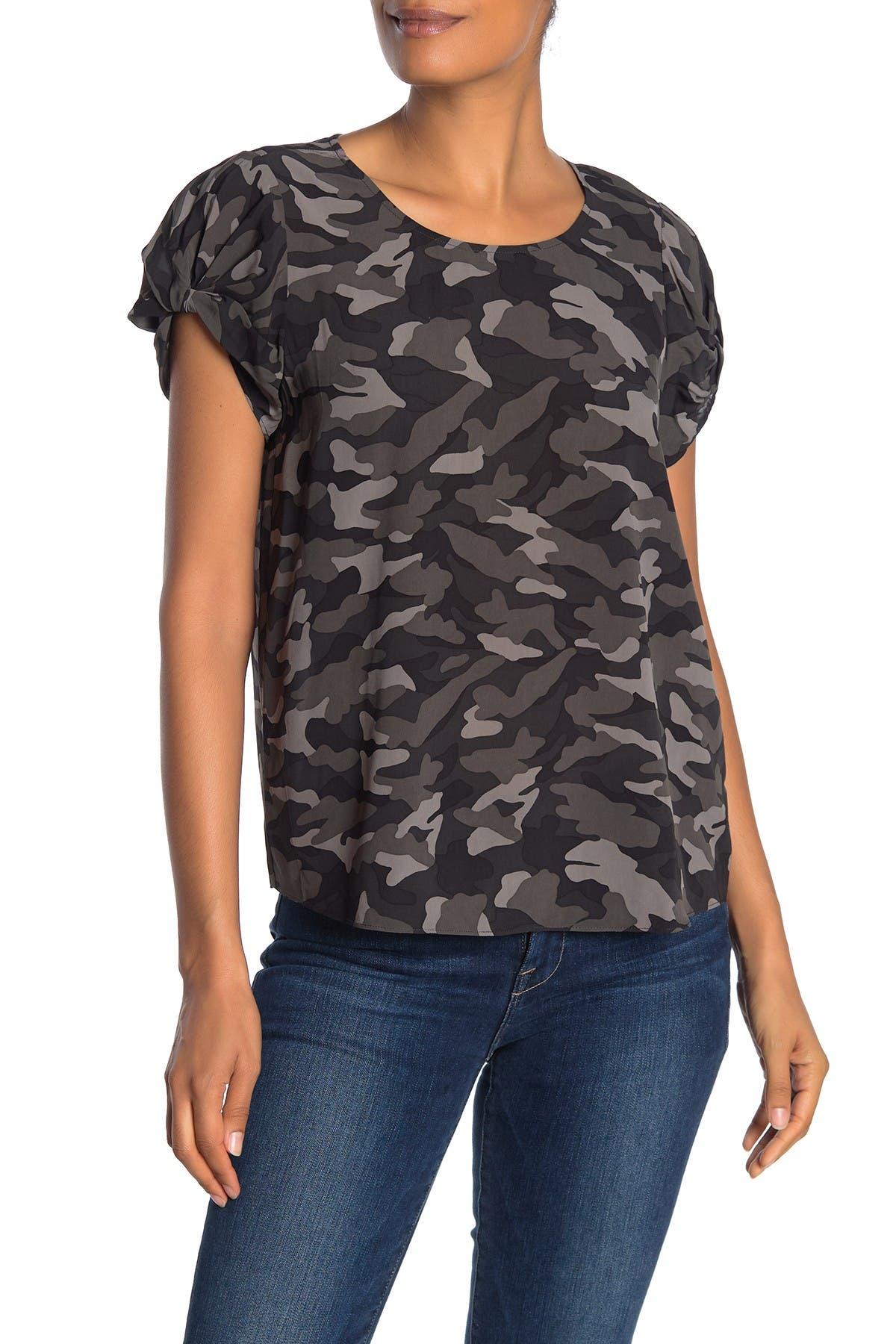 Image of Joie Elline Camo Printed Blouse