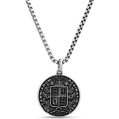 Steve Madden Crown Coin Pendant Necklace