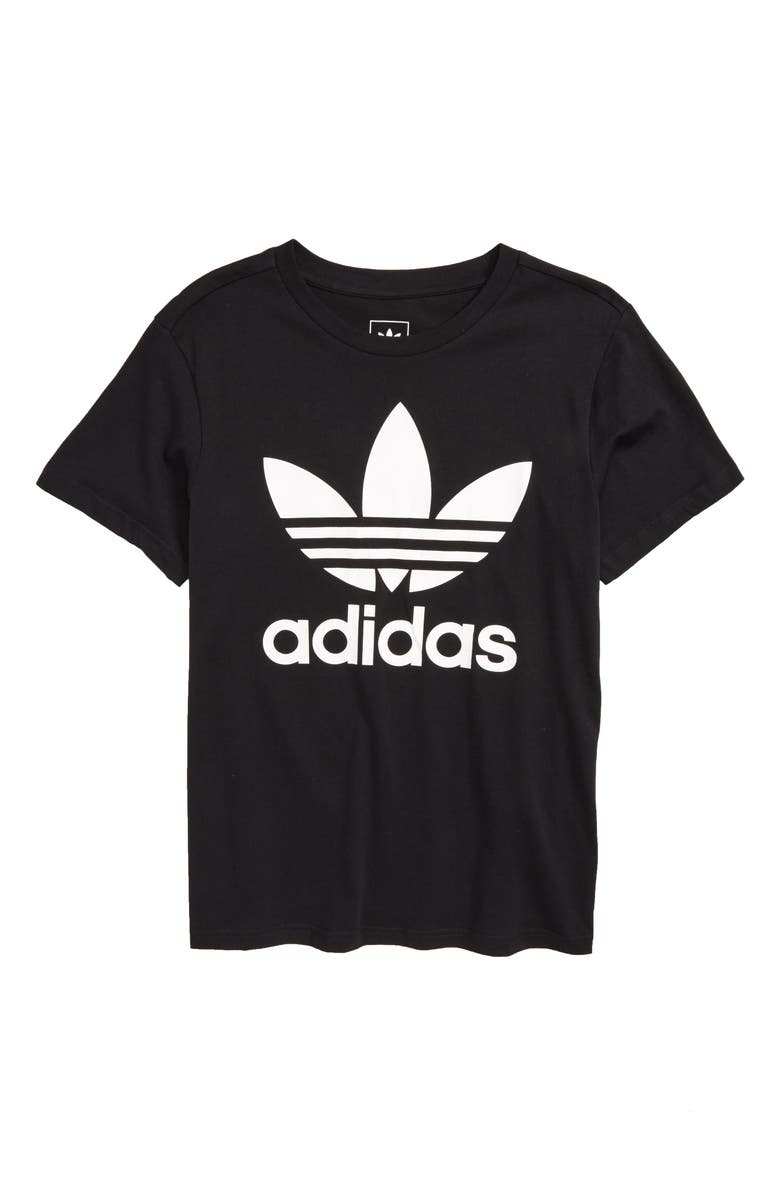 ADIDAS ORIGINALS adidas Trefoil Logo T-Shirt, Main, color, 001
