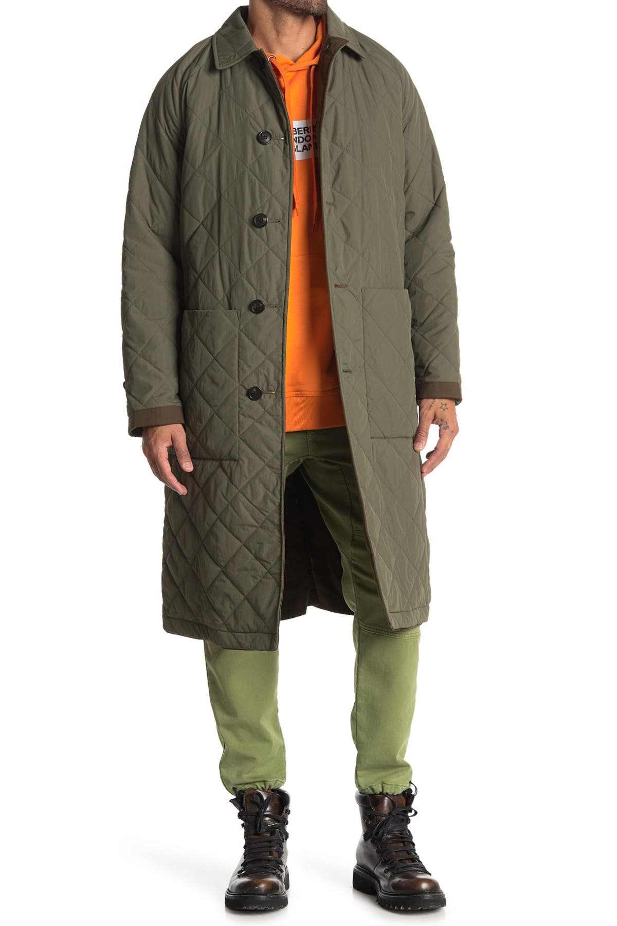 Image of Burberry Reversible Ableford Car Coat