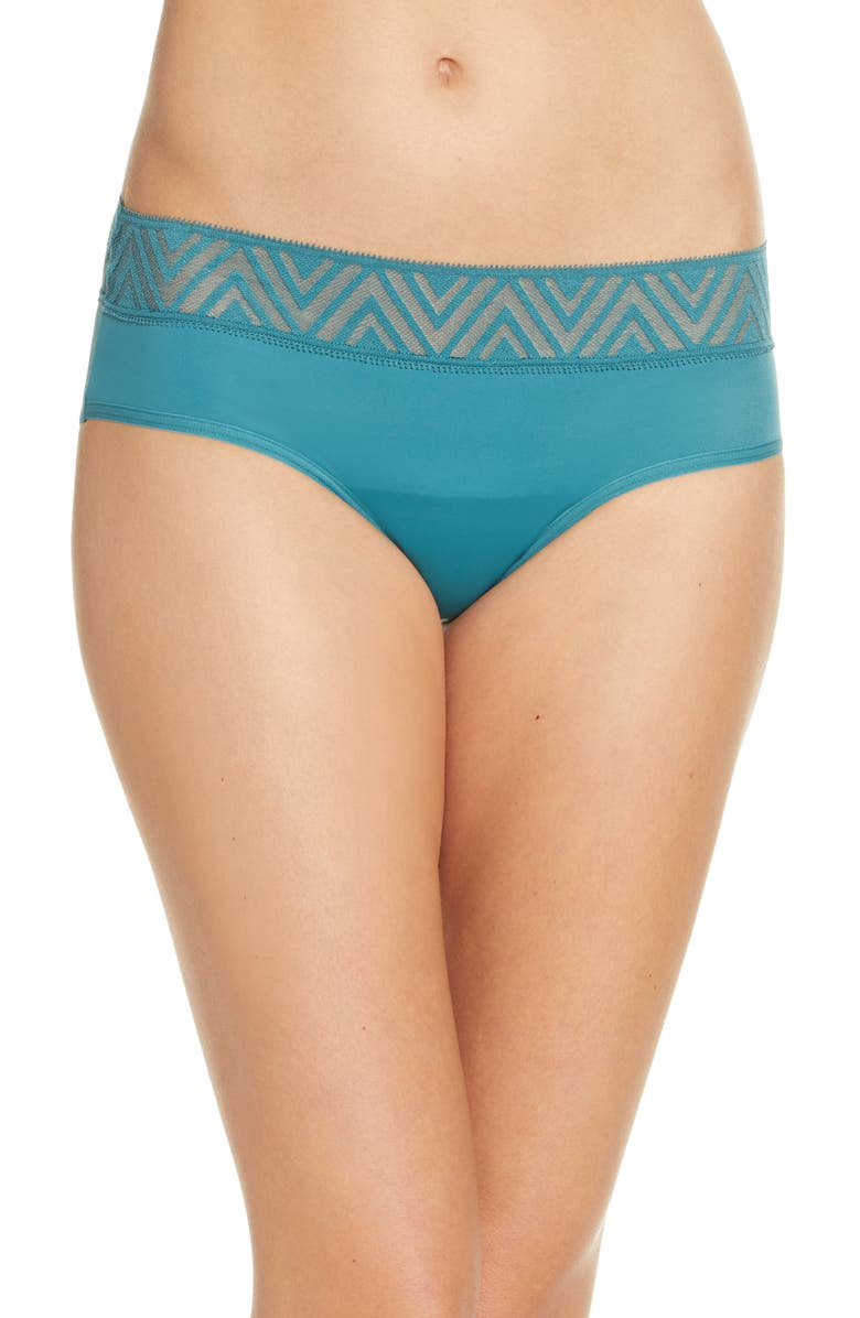 THINX Period Proof Hiphugger Panties, Main, color, PINE