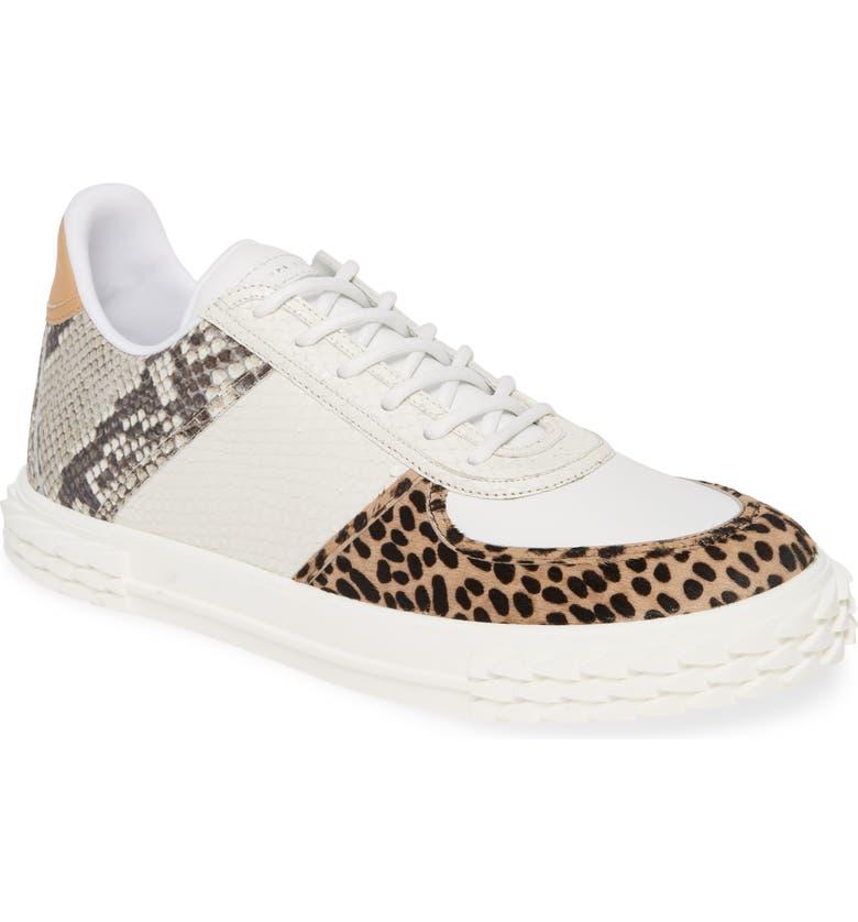 GIUSEPPE ZANOTTI Blabber Sneaker, Main, color, NATURAL PRINT CALF HAIR