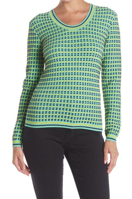 Image of M Missoni Geometric Print Scoop Neck Sweater