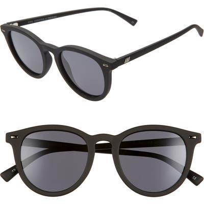Le Specs Fire Starter Polarized Round Sunglasses - Black Rubber