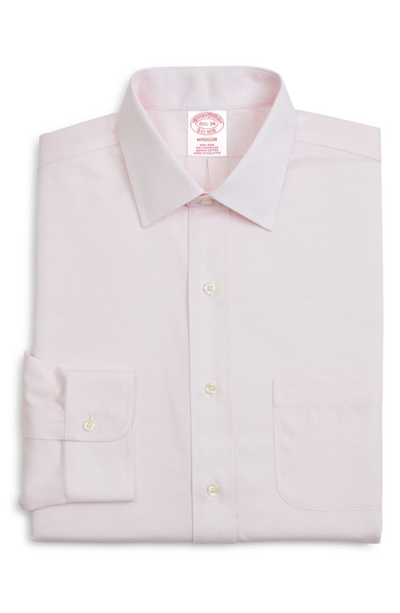 BROOKS BROTHERS Classic Fit Solid Dress Shirt, Main, color, PINK