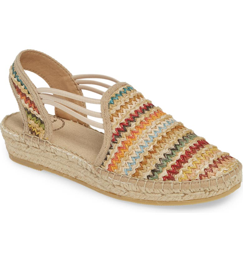TONI PONS Noa Espadrille Flat, Main, color, MULTI FABRIC