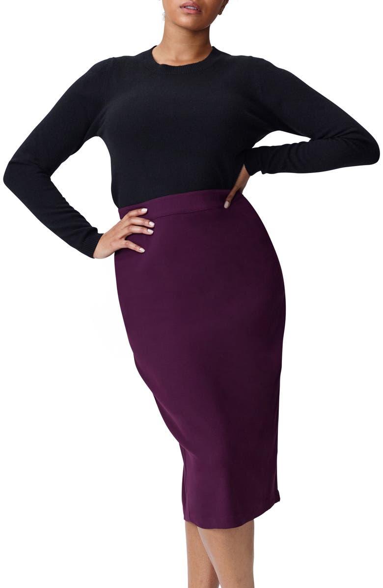UNIVERSAL STANDARD Raquette Stripe Cashmere Sweater, Main, color, BLACK