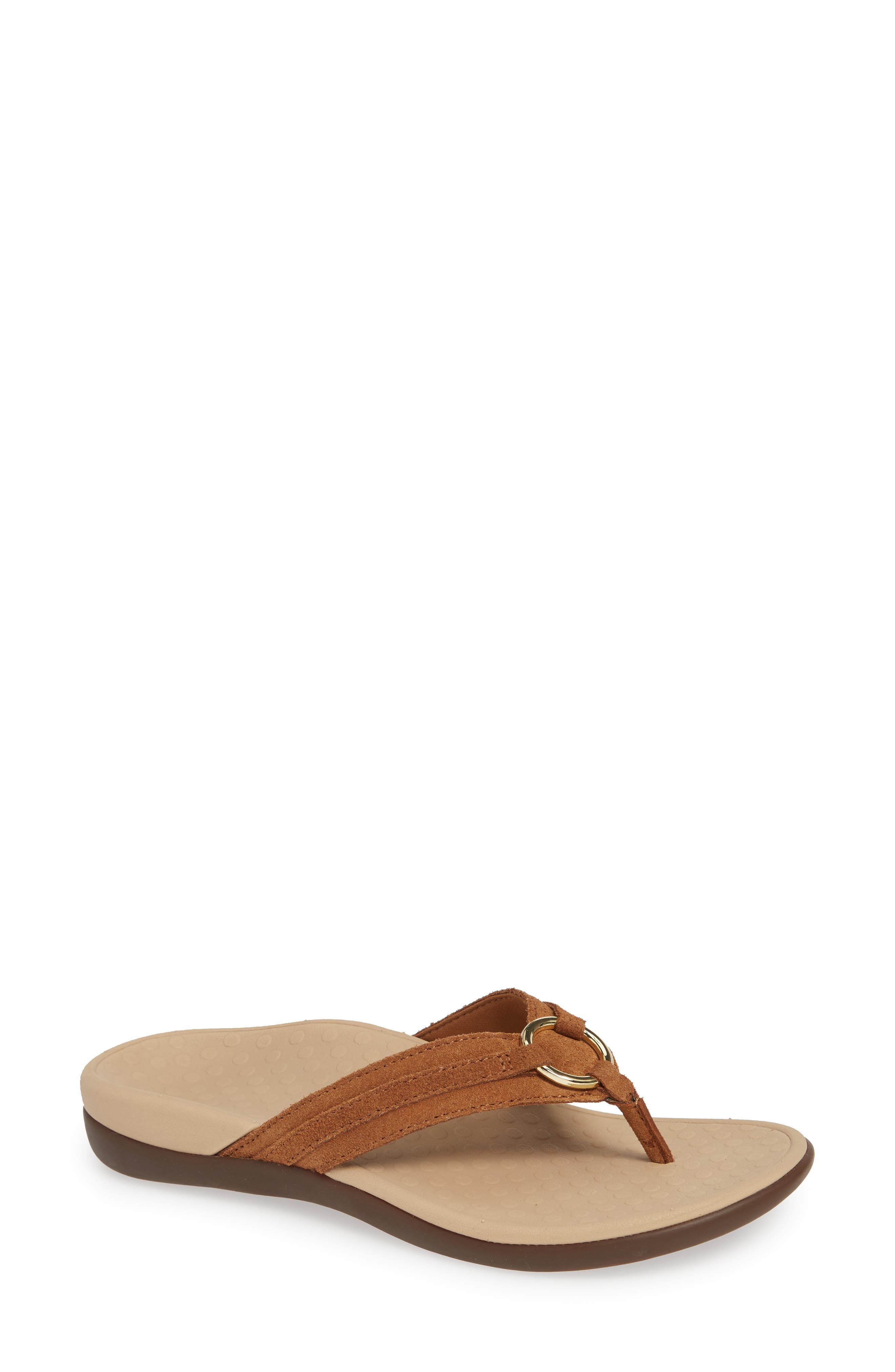 Vionic Aloe Flip Flop, Brown