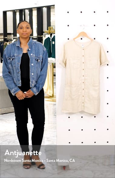 Urban Outfitters Linen Utility Minidress, sales video thumbnail