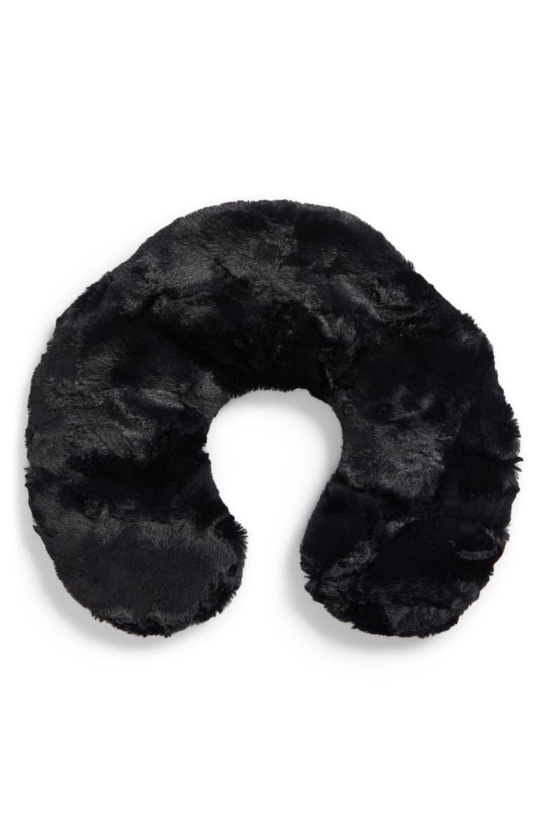 SONOMA LAVENDER Caviar Black Neck Pillow, Main, color, 000
