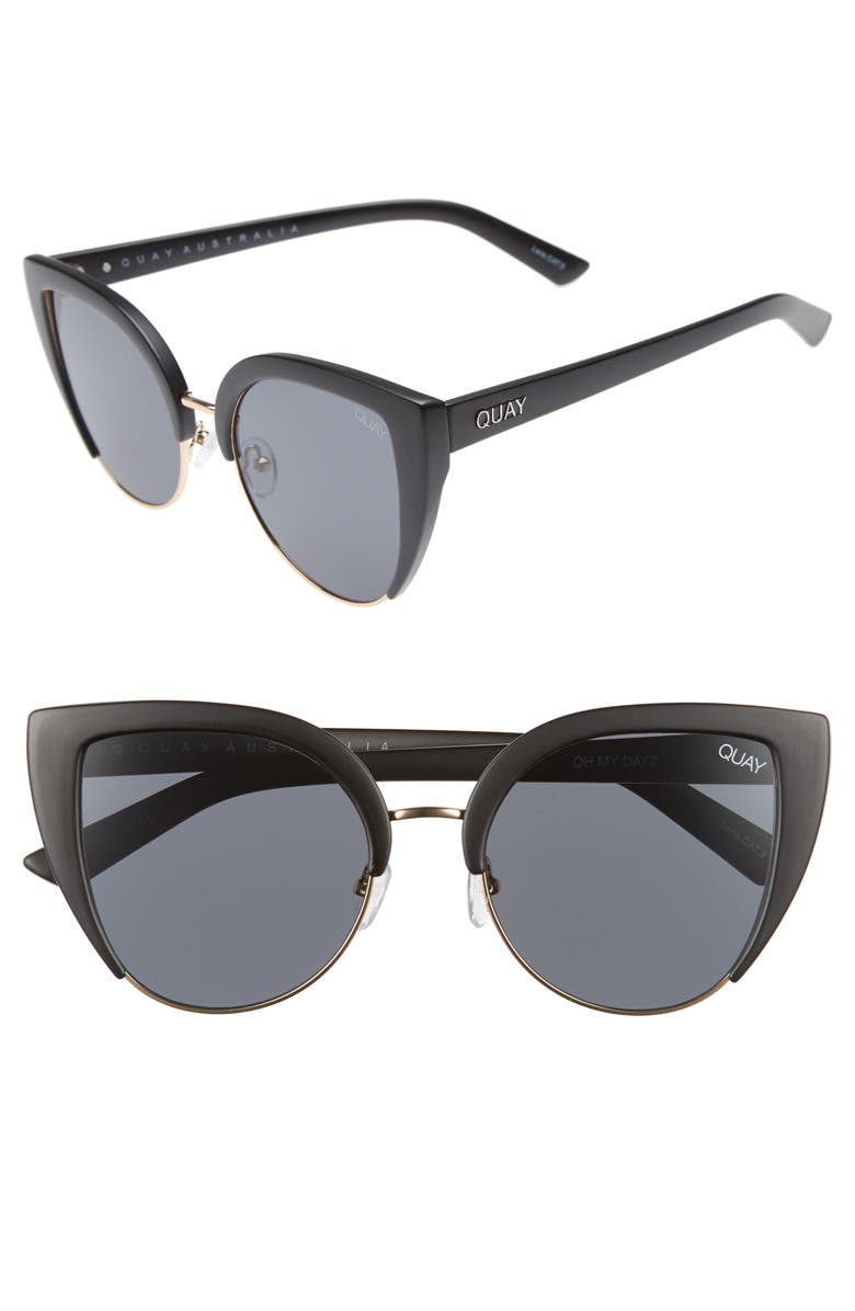 QUAY AUSTRALIA x Missguided Oh My Dayz 53mm Sunglasses, Main, color, 001