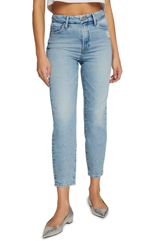 Good American Jeans IDOL HIGH WAIST STRAIGHT LEG MOM JEANS