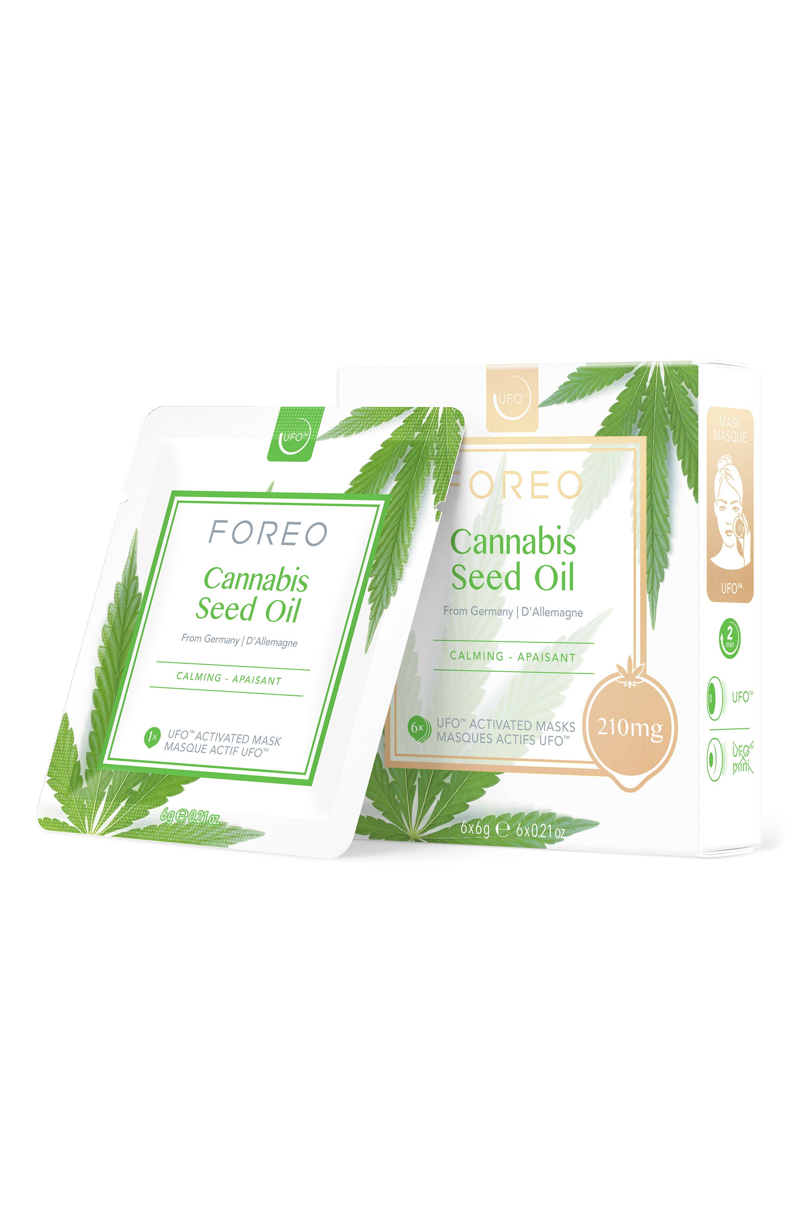 Cannabis Seed Oil Ufo(TM) Activated Smart Mask