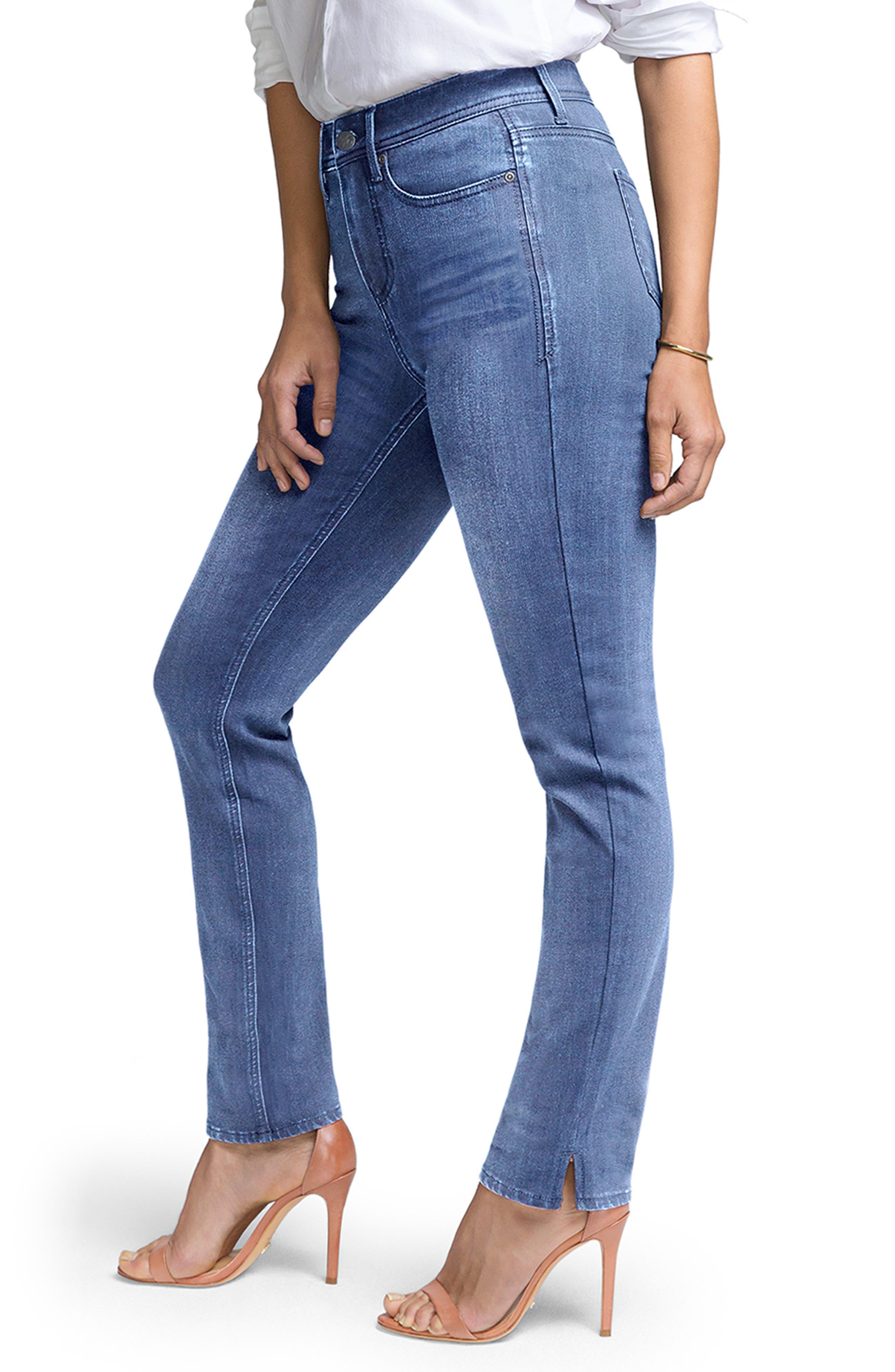 ,                             Slim Ankle Straight Leg Jeans,                             Alternate thumbnail 6, color,                             AQUINO