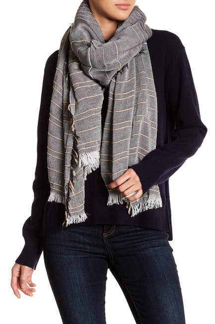 Image of Melrose and Market Textural Stripe Scarf