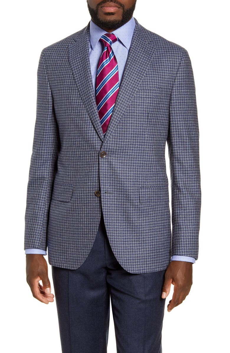 DAVID DONAHUE Arnold Classic Fit Check Wool Sport Coat, Main, color, BLUE/ CHARCOAL