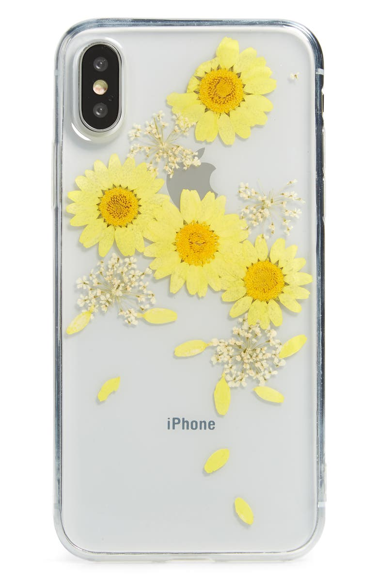 RECOVER Floral iPhone X/Xs/Xs Max & XR Case, Main, color, YELLOW