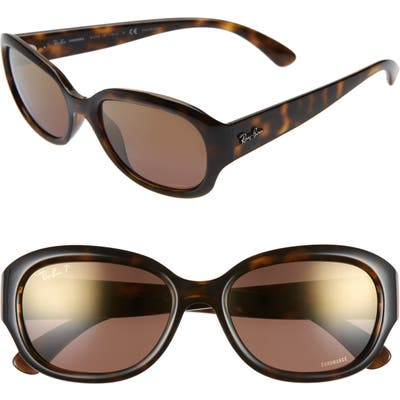 Ray-Ban 55Mm Chromance Polarized Sunglasses - Havana/ Gradient Mirror