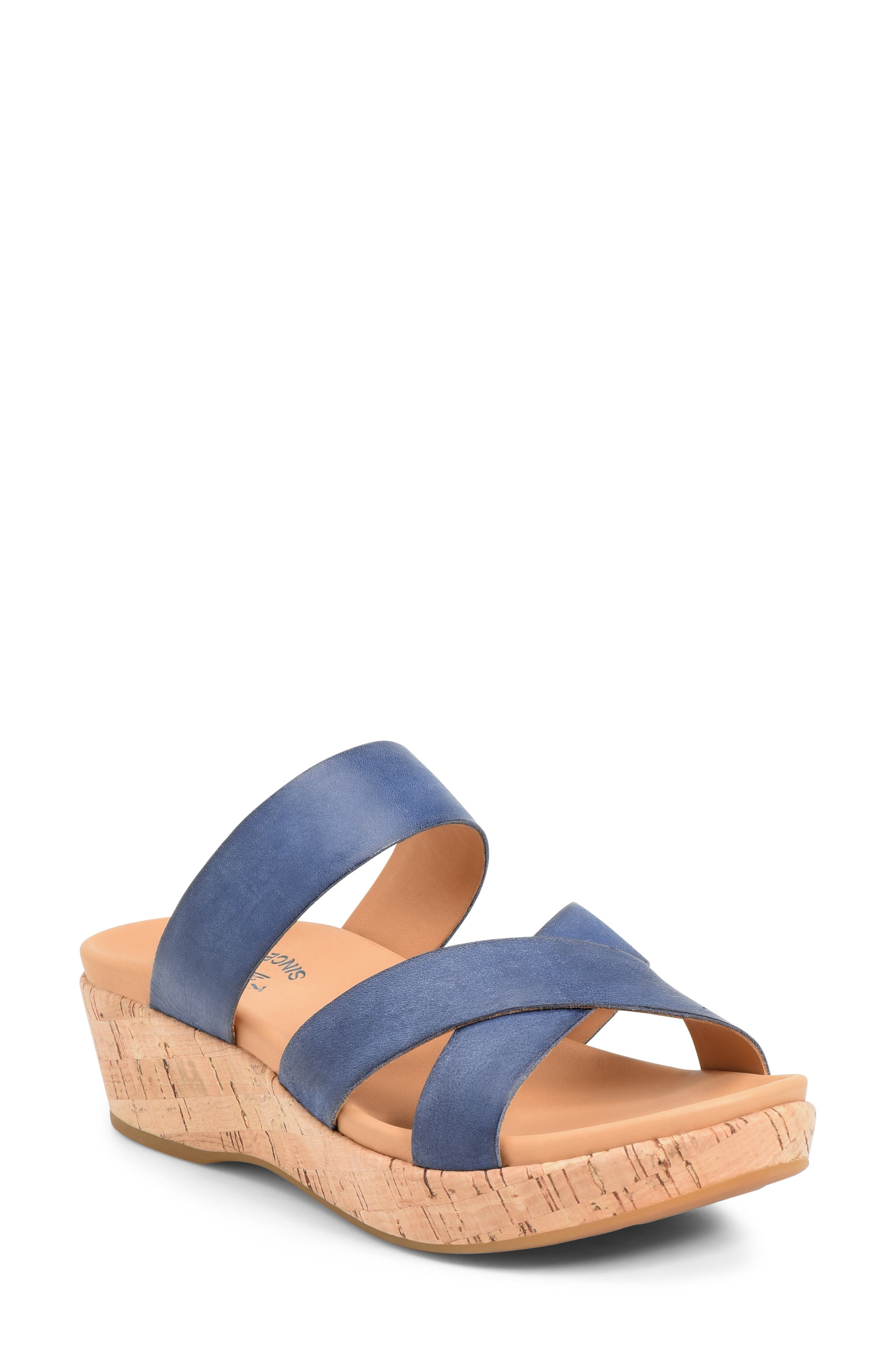 Signature cork covers the platform and wedge heel of this strappy slide sandal that offers all-day comfort and easygoing style. Style Name: Kork-Ease Camellia Slide Sandal (Women). Style Number: 5789537. Available in stores.