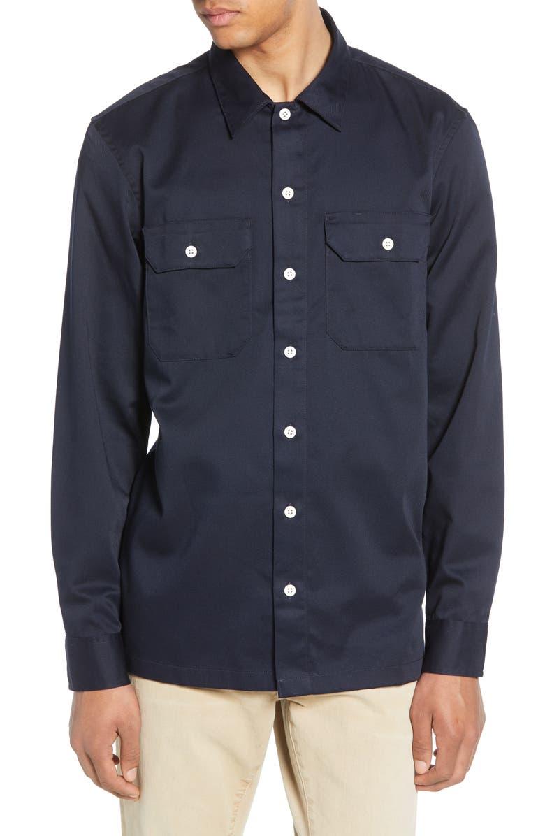 CARHARTT WORK IN PROGRESS Master Twill Shirt, Main, color, DARK NAVY