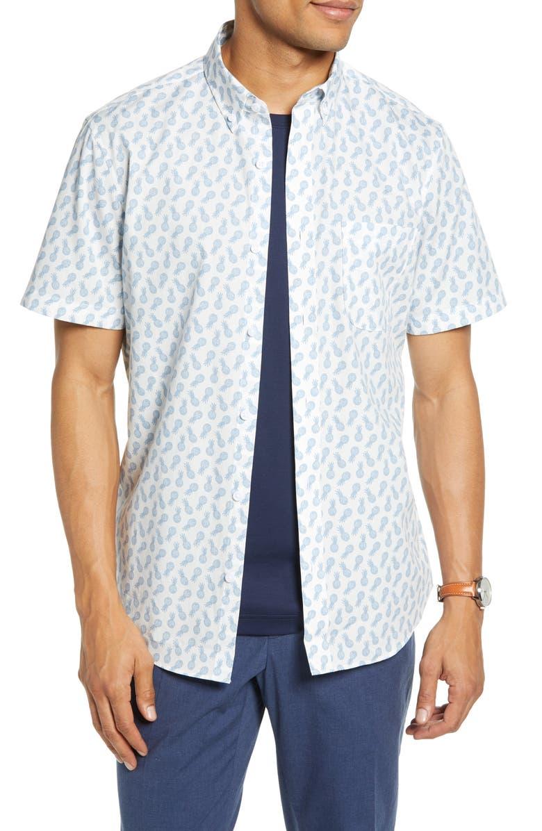 1901 Cotton Slim Fit Sport Shirt, Main, color, 420