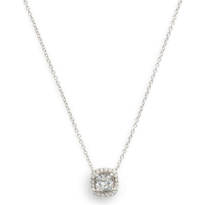 Lafonn Cushion Cut Halo Necklace