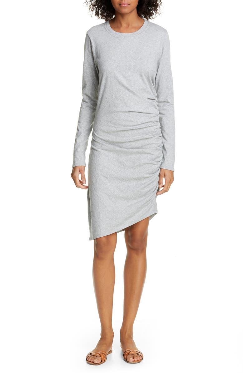 VERONICA BEARD Jaelyn Long Sleeve Ruched Dress, Main, color, 020