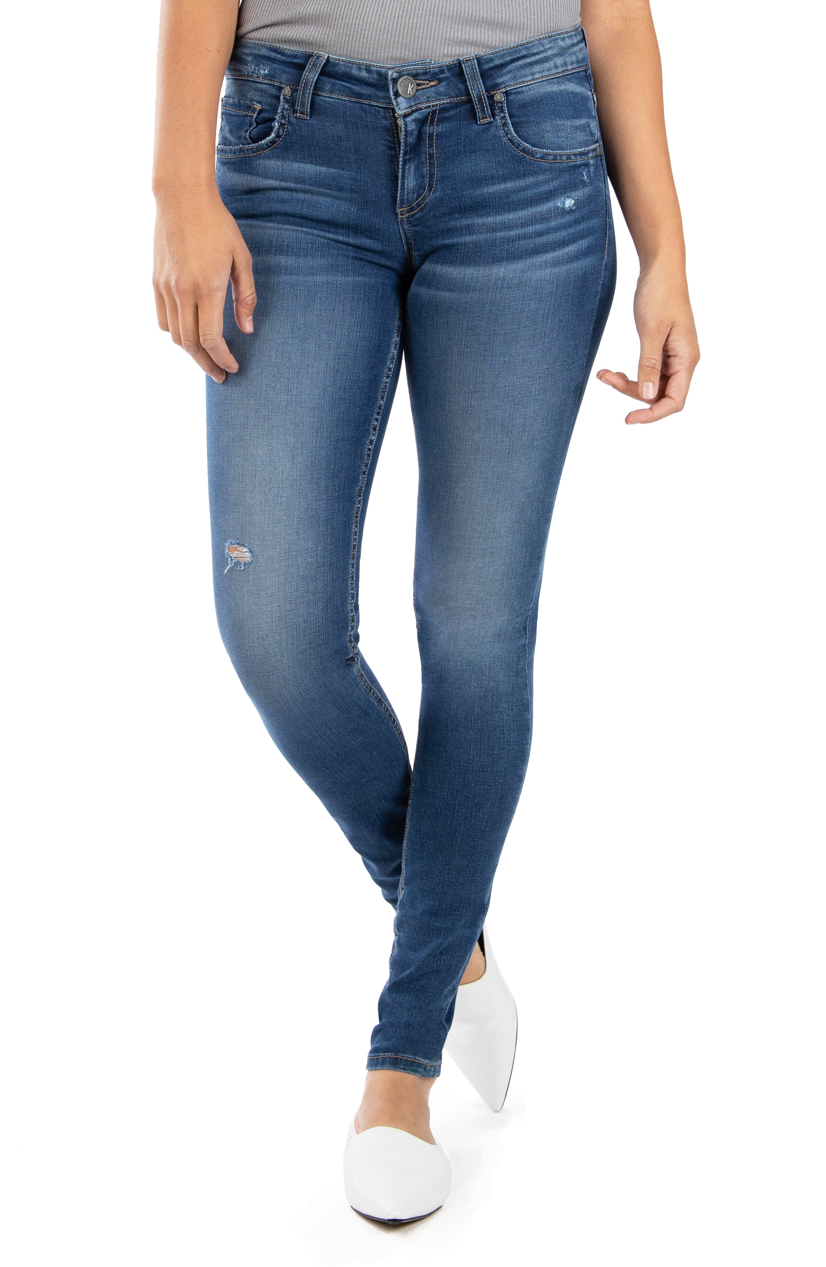 Image of KUT from the Kloth Mia Toothpick Distressed Skinny Jeans