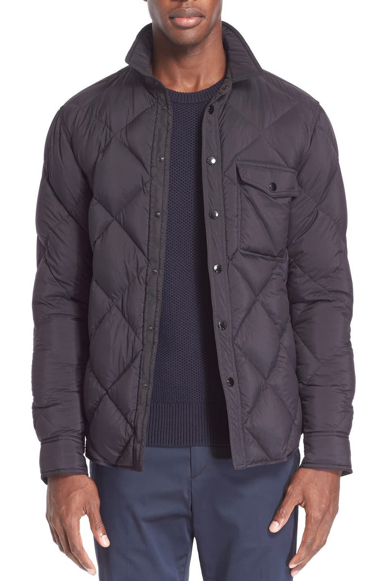 RAG & BONE 'Mallory' Quilted Shirt Jacket, Main, color, 001