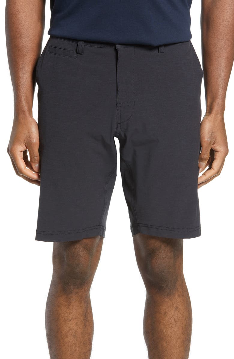 LINKSOUL Solid Boardwalker Shorts, Main, color, TRUE BLACK
