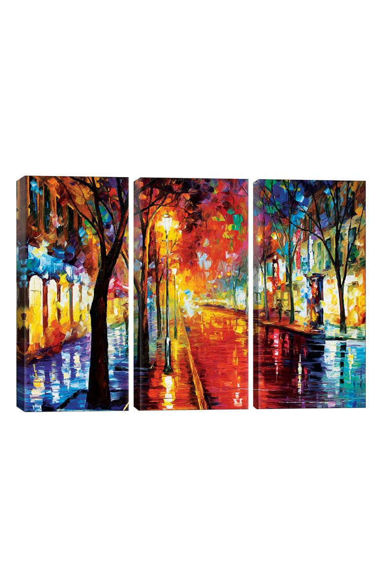 ICANVAS Street of the Old Town by Leonid Afremov Giclée Print Canvas Art, Main, color, BLACK