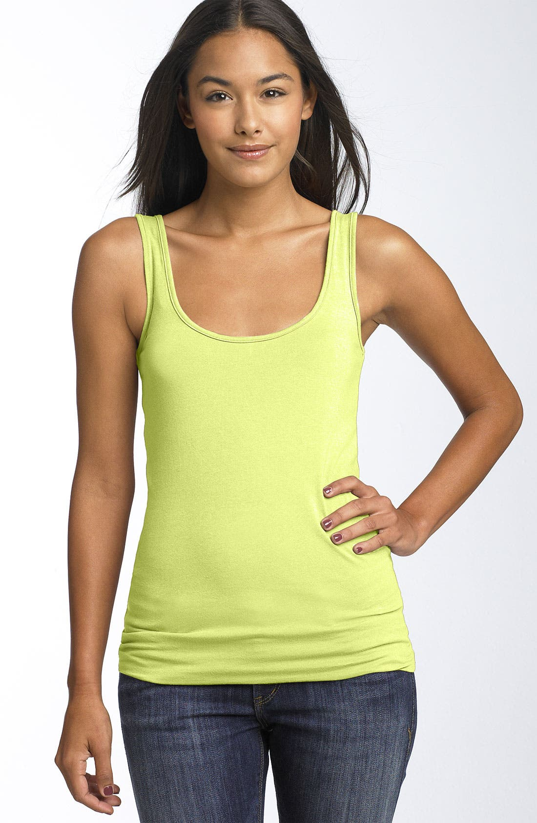 ,                             Double Scoop Neck Tank,                             Main thumbnail 136, color,                             332