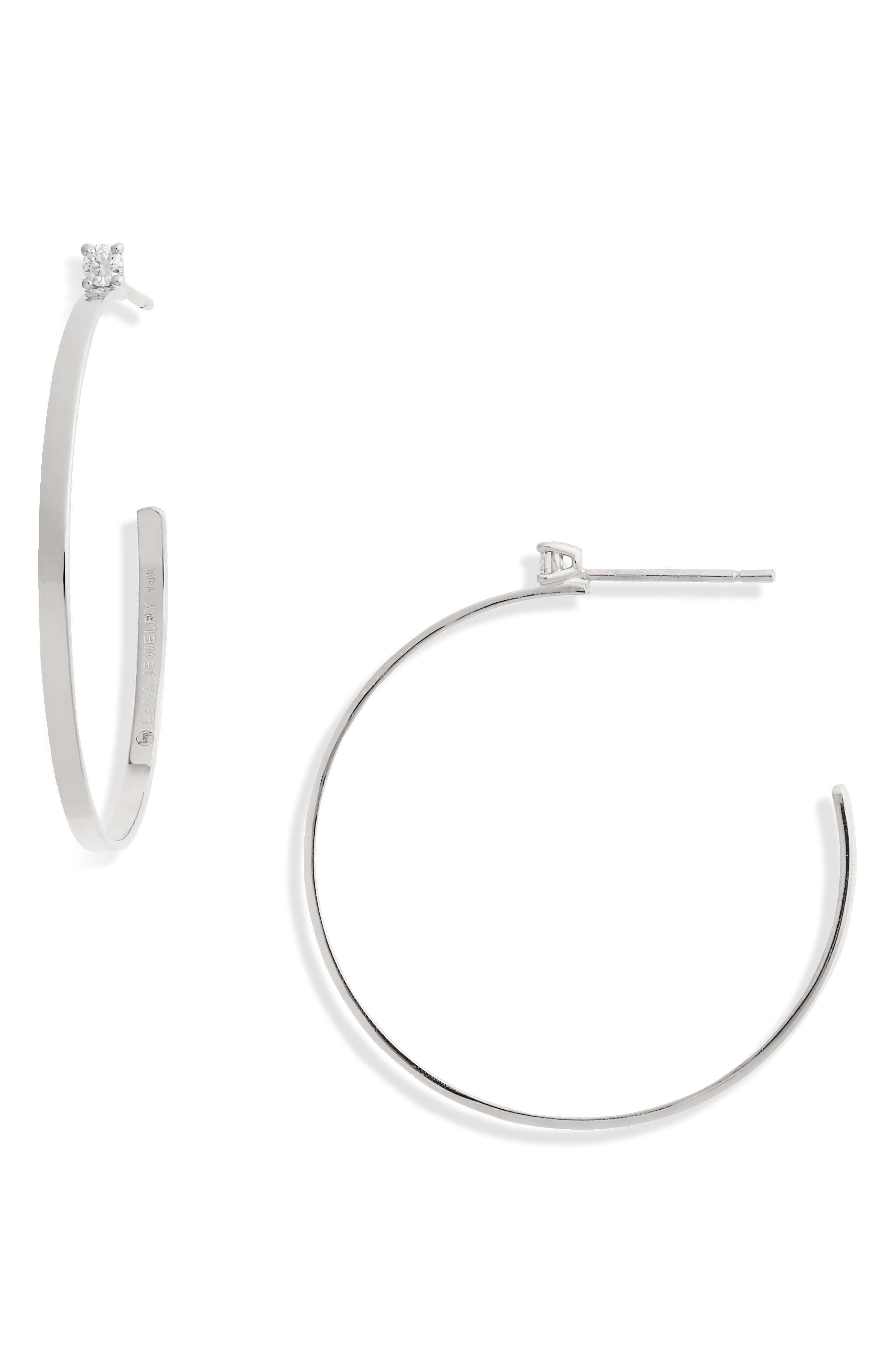 Sunrise Diamond Hoop Earrings