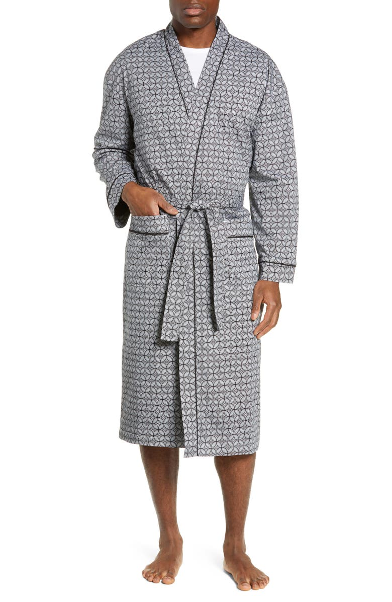 MAJESTIC INTERNATIONAL Marbella Stretch Sateen Robe, Main, color, BLACK