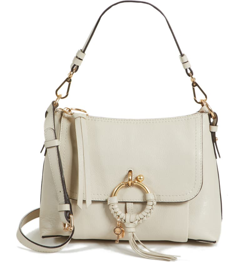 SEE BY CHLOÉ Small Joan Leather Shoulder Bag, Main, color, 100