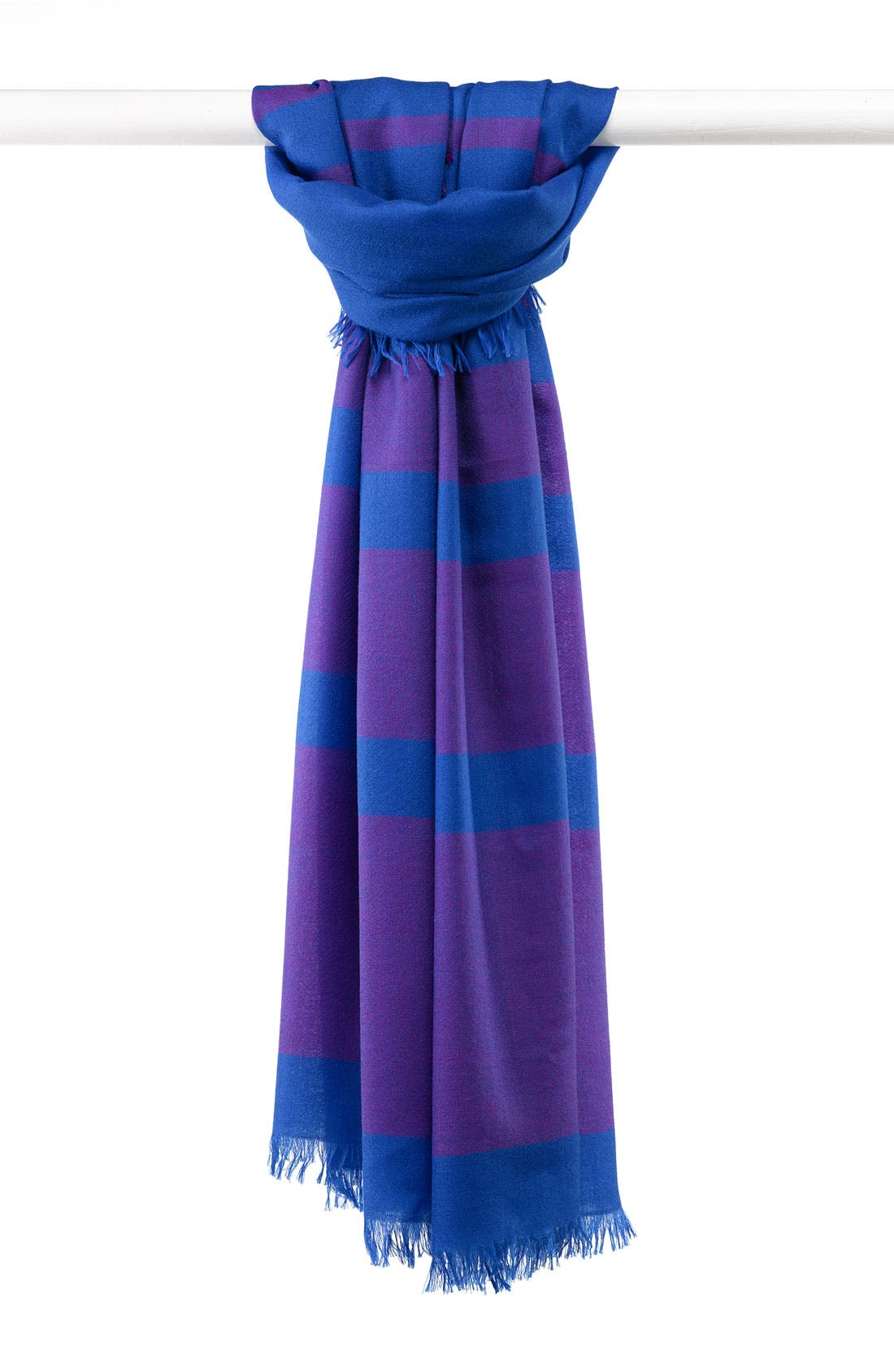 ,                             'Eyelash' Colorblock Cashmere Wrap,                             Main thumbnail 44, color,                             433