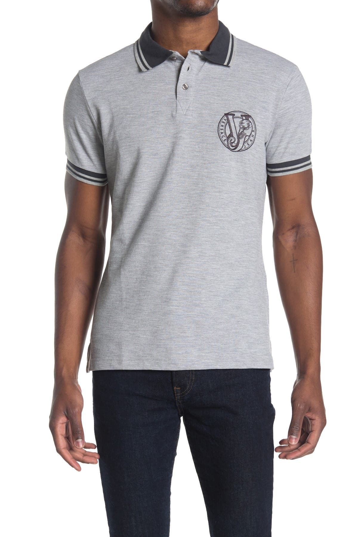 Image of Versace Jeans Trim Polo Shirt