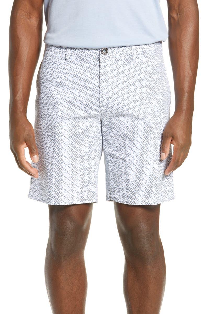 RODD & GUNN Halken Regular Fit Shorts, Main, color, SNOW