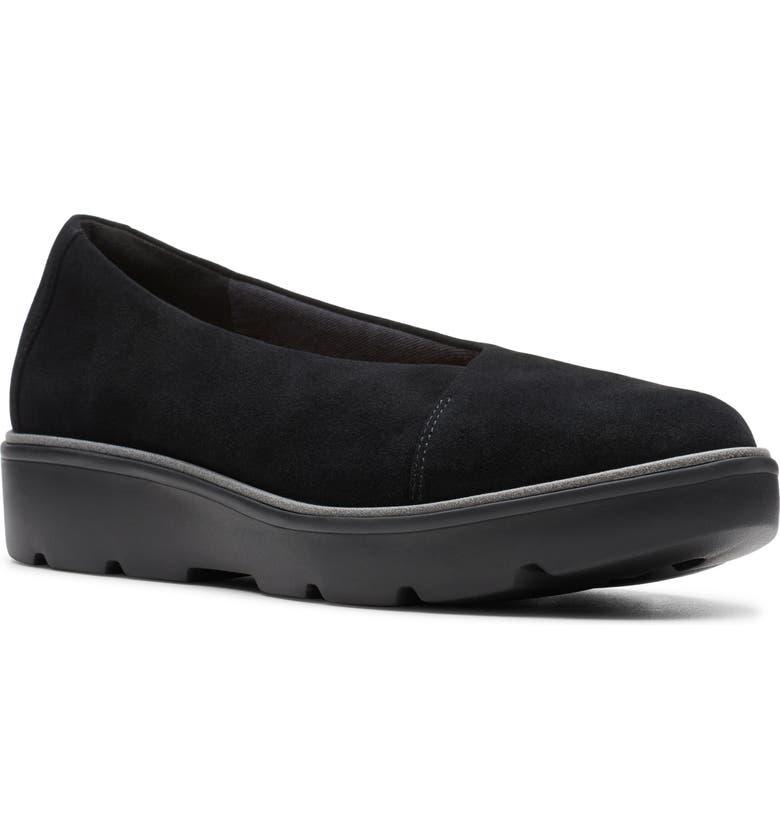 CLARKS<SUP>®</SUP> Un Balsa Go Flat, Main, color, BLACK SUEDE