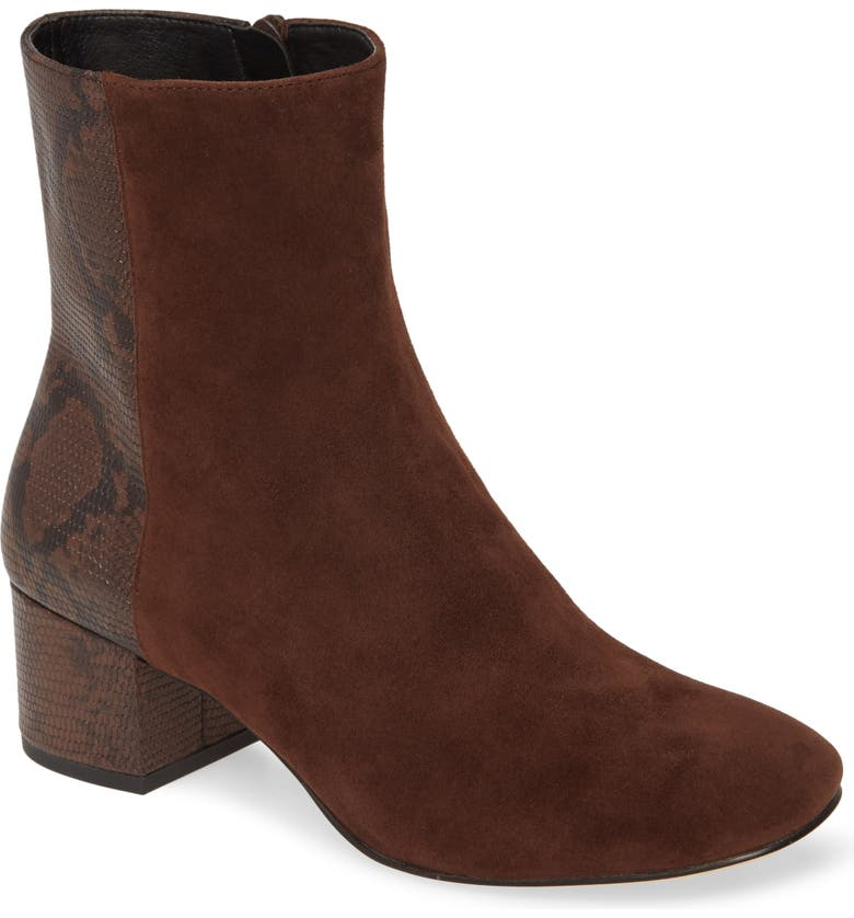 DONALD PLINER Cindee Bootie, Main, color, BROWN NAPPA LEATHER