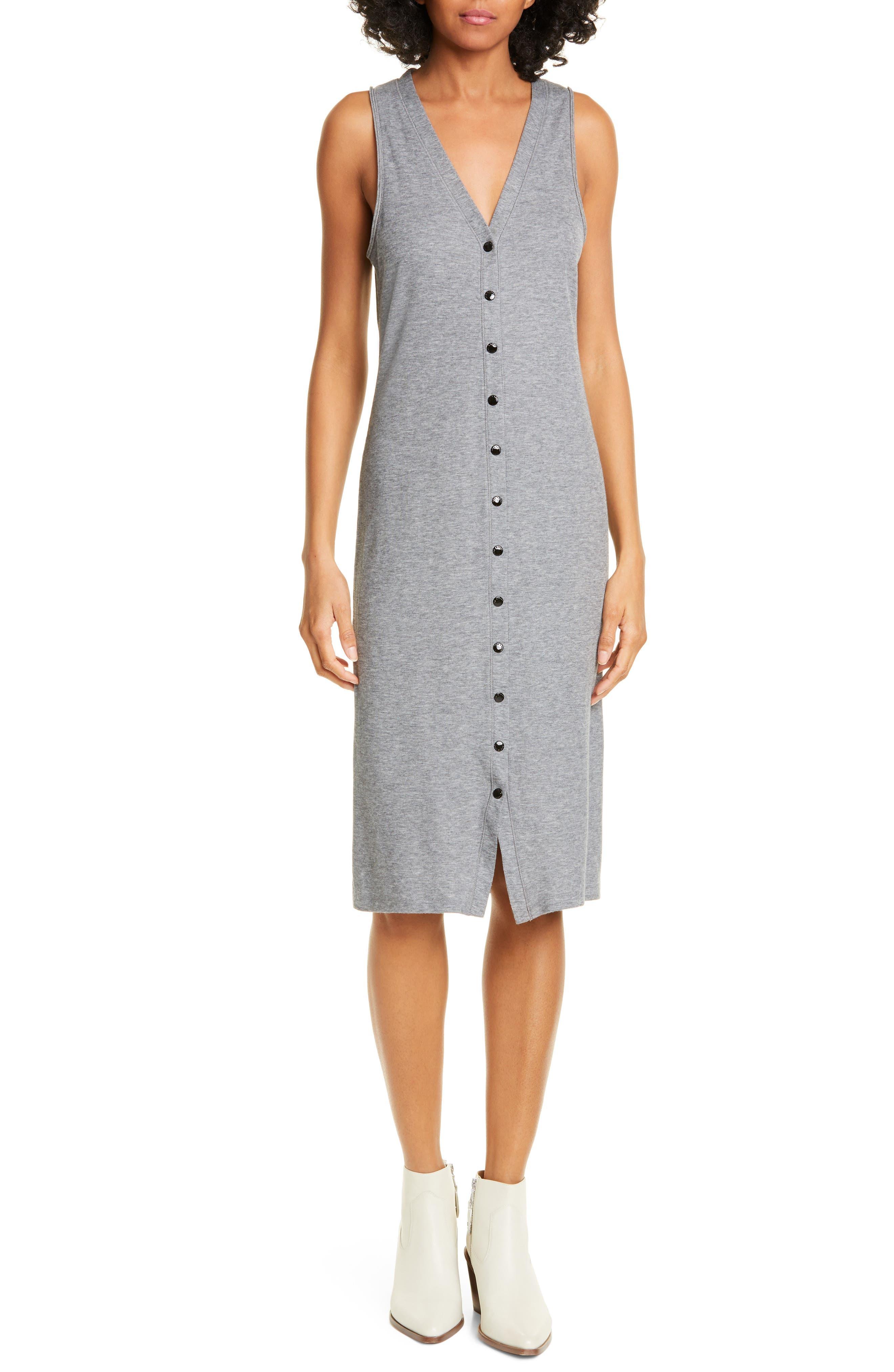 Rag & Bone MAC Ribbed Tank Dress, Grey