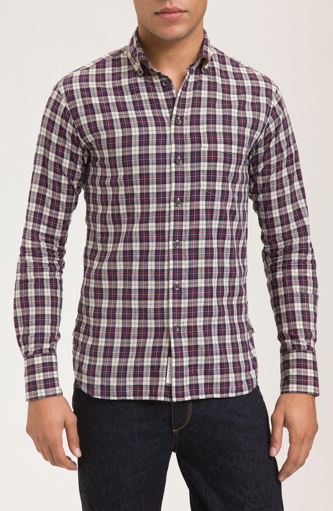 ,                             Plaid Sport Shirt,                             Main thumbnail 1, color,                             430