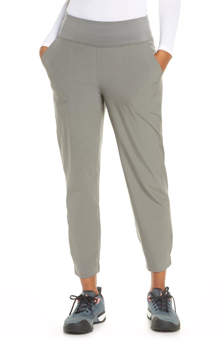 PATAGONIA Happy Hike Water Repellent Studio Pants, Main, color, HEX GREY