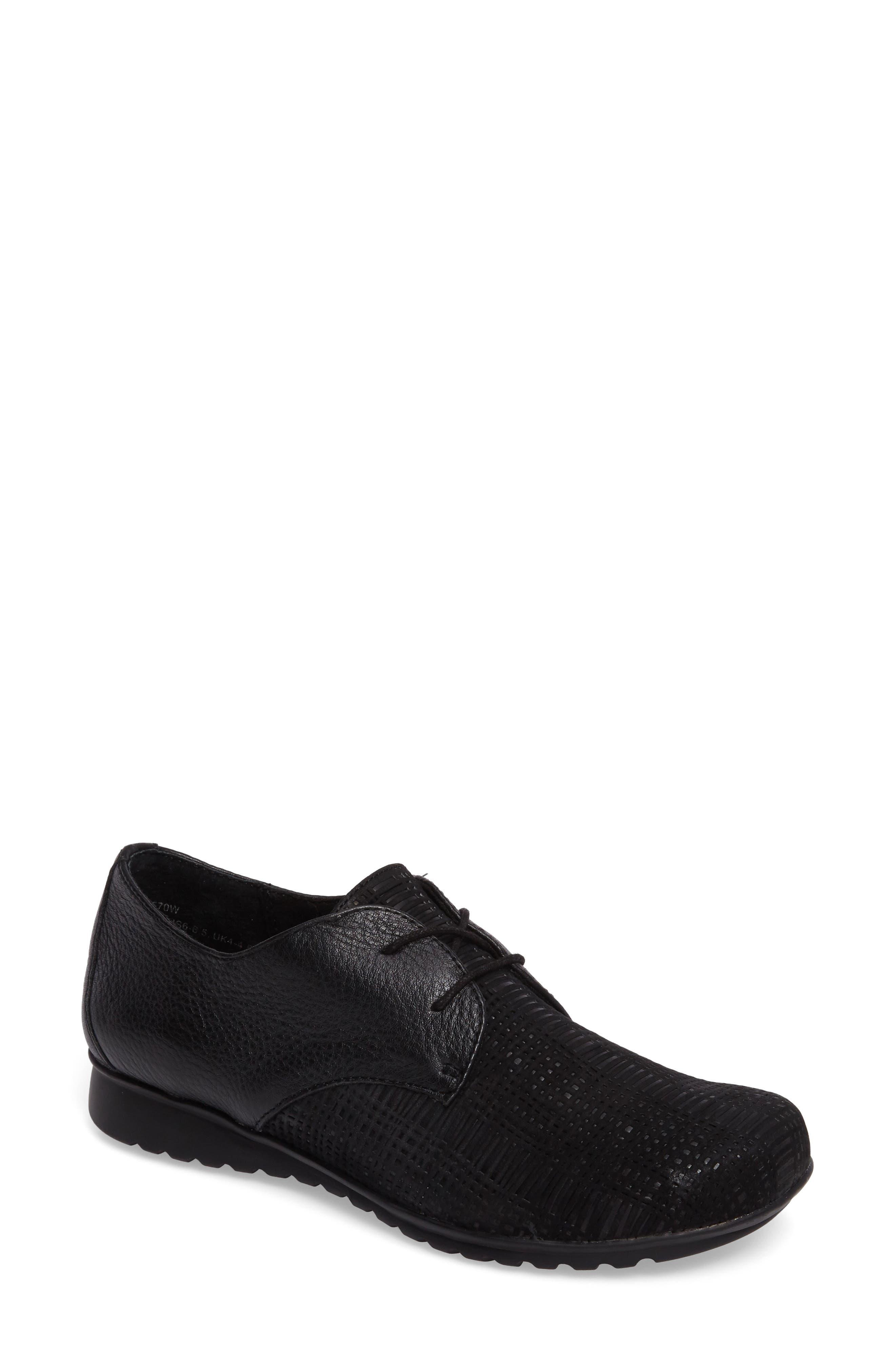Aetrex Erin Saddle Shoe, Black