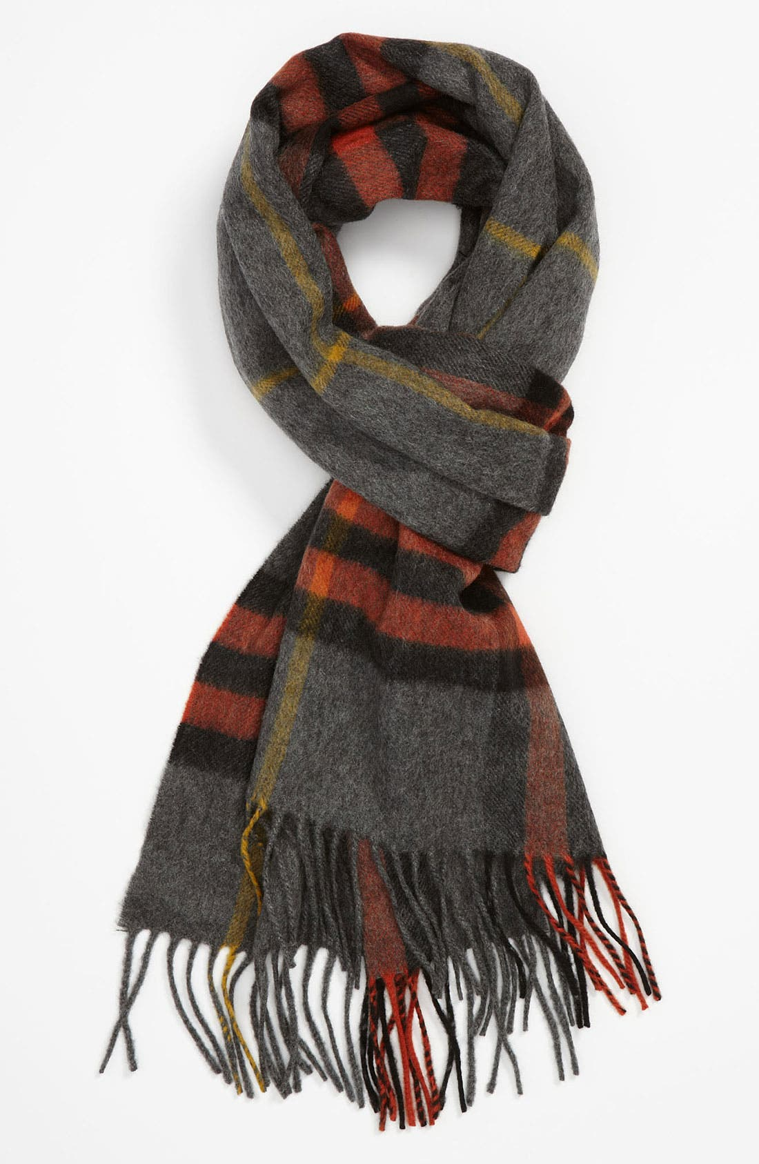 ,                             Heritage Check Cashmere Scarf,                             Main thumbnail 39, color,                             804