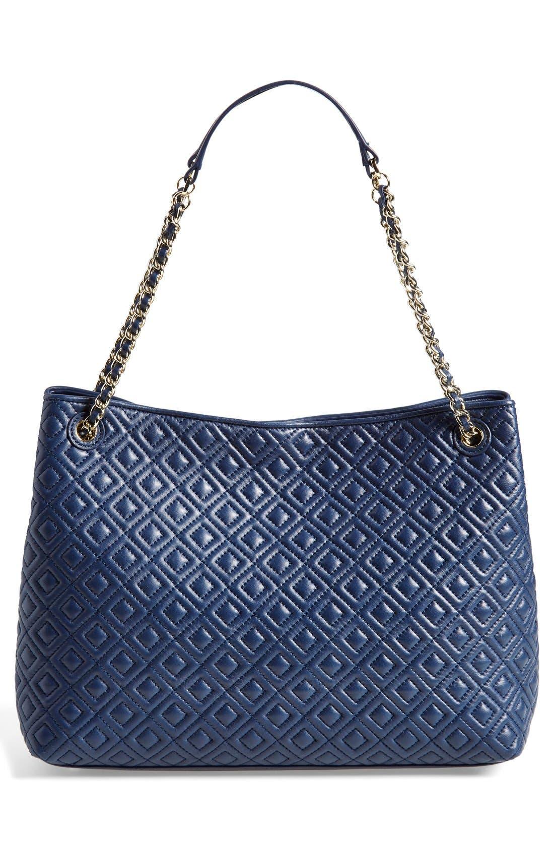 ,                             'Marion' Diamond Quilted Leather Tote,                             Alternate thumbnail 5, color,                             400